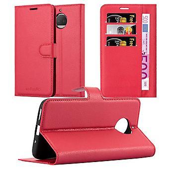 Cadorabo Case voor Motorola MOTO G5S PLUS gevaldekking-telefoon geval met magnetische sluiting, stand functie en kaart compartiment-gevaldekking geval geval geval zaak geval geval boek vouwen stijl
