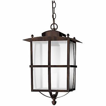 1 luce esterna lampada a sospensione soffitto ruggine marrone IP65