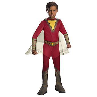Shazam Classic Kapteeni Marvel DC Comics Wizard Superhero lisensoitu pojat puku