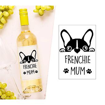 Frenchie Mama Wein Flasche Label