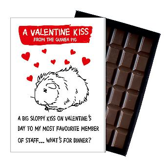 Valentine?s Day Gift Present from Guinea Pig Boxed Chocolate Greeting Card Present ODV207