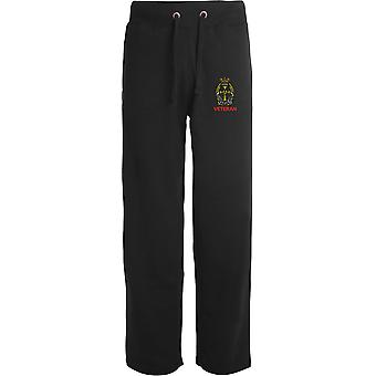 Queens Alexandra Royal Army Nursing Corps - Veteran - Licensed British Army Embroidered Open Hem Sweatpants / Jogging Bottoms