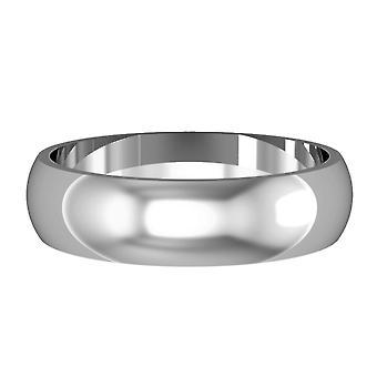Κόσμημα γάμου Platinum 5mm D-Shape απλό γυαλισμένο δαχτυλίδι δέσμευσης γάμο Band