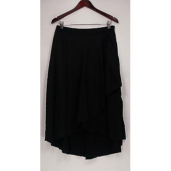 WD.NY Skirt Side Zipper Multi Layer Hi-Lo Skirt Black Womens A420289