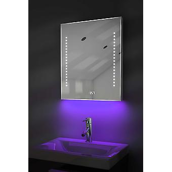 Clock Mirror with UnderLighting, Bluetooth, Demist & Sensor k191Waud