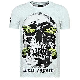 Skull Snake - Tight T-Shirt - 6326W - White