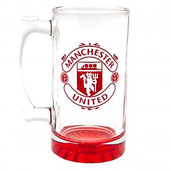 Manchester United Stein glass Tankard