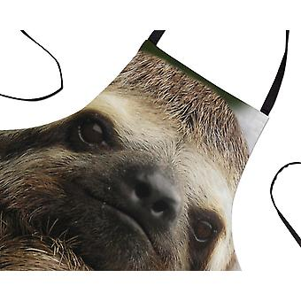 Funny Cute Sloth Face Printed Baking Apron Cooking Gift For Women