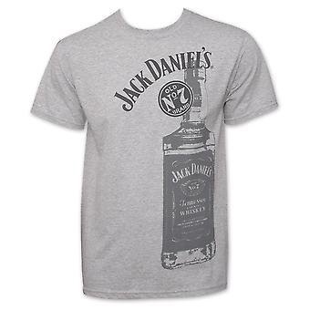 Jack Daniel's Old No. 7 Bottle Men's Ash Grey T-Shirt