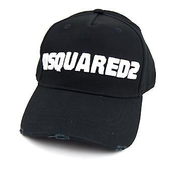 Dsquared2 Logo Baseball Cap Schwarz/Weiß