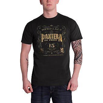 Pantera T Shirt 101 Proof Distressed band logo Official Mens  Black