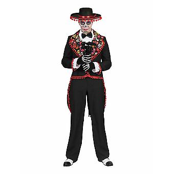 Romantique Dia de los Muertos Men's Costume Day of the Dead Halloween Men's Costume