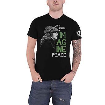 John Lennon T Shirt Imagine Peace Logo new Official Mens Black