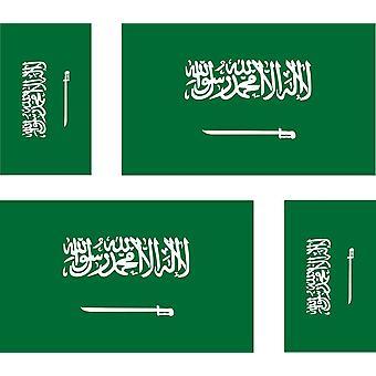4 X Sticker Sticker Sticker Car Motorcycle Valise Pc Portable Flag Saudi Arabia