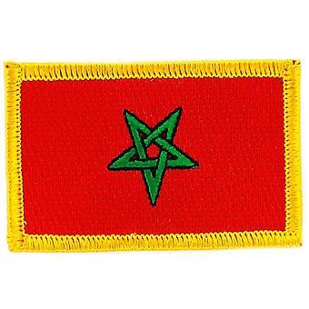 التصحيح Ecusson برود العلم المغرب المغربي الشارة الحرارية بلاسون