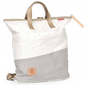 360 degree women's bag backpack kech mini white/grey beam sailcloth maritim