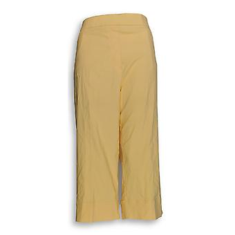 Alfred Dunner Women's Pants Stretch Cropped Yellow