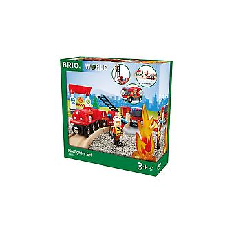 Brio 33815  Wooden Railway - Firefighter Set