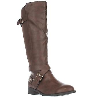 Thalia Sodi TS35 Vada Stretch Knee High Harness Boots - Cognac, 6.5 W US