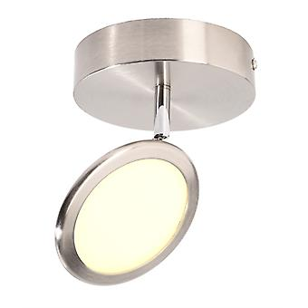 LED ceiling ceiling lamp Botein I 5W 3000 K D 130 mm dimmable silver IP20