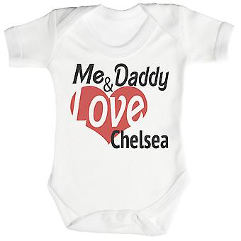 Me & Daddy Love Chelsea Baby Romper / Babygrow