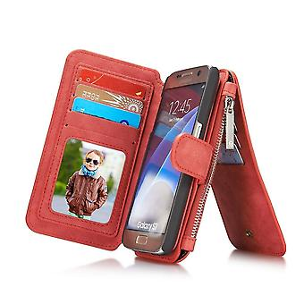 Samsung Galaxy S7 Red Multifunction Wallet Case - Caseme