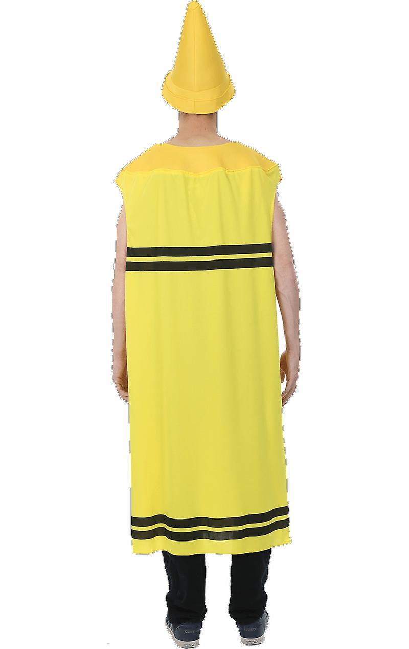 Orion Costumes Mens Yellow Crayon Novelty Stag Night Group Fancy Dress Costume