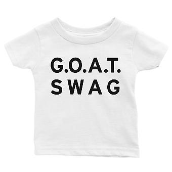 365 Printing GOAT Swag Baby Graphic T-Shirt Gift White Baby Birthday Baby Tee