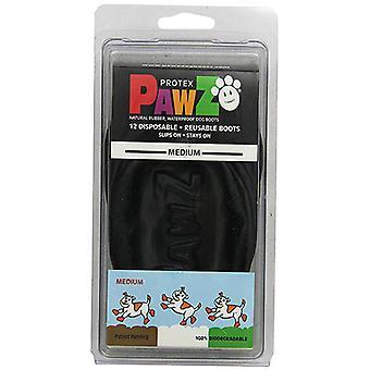 Pawz الطبيعية القابلة لإعادة الاستخدام أحذية الكلب القابلة لإعادة الاستخدام - متوسط أسود