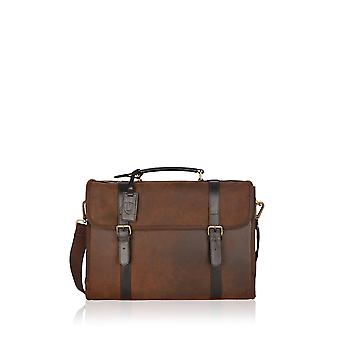 Lattrigg Leather Briefcase in Chocolate Brown