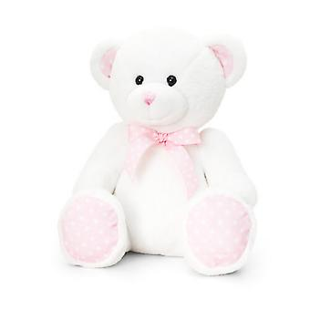 Keel Toys 25cm Baby Spotty Bear White
