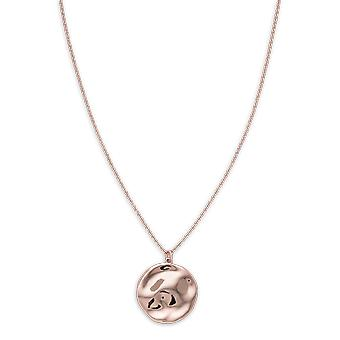 Rosefield JTXCR-J079 necklace and pendant - IGGY Collier Collection with M daillon Relief dor rose Laiton Femme