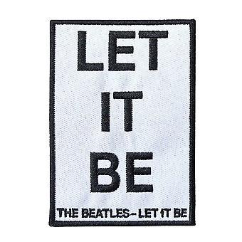 Beatles-laastari anna sen olla kappaleen nimi uusi virallinen valkoinen kirjailtu silitys rauta