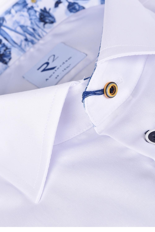 R2 Long Sleeved Wilde Collar Shirt White