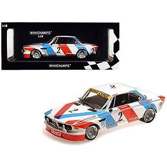 BMW 3.0 CSL #2 De Fierlant / Xhenceval Winners 24 Hours SPA 1975 (Luigi Racing) Limited Edition to 360 pieces Worldwide 1/18 Diecast Model Car by Minichamps