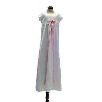 Dopklänning  Med Kort ärm,  Rosa Bred Rosett  Sess.ka