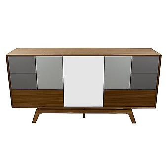 Fusion Living Danish Large Walnut And Grey Sideboard