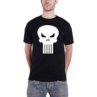 Punisher T Shirt Skull logo new Official Marvel Comics Mens Black