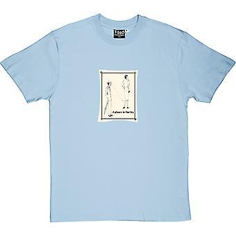 Vilkaisu hienoon jalkaan vaaleansininen miesten ' s T-paita