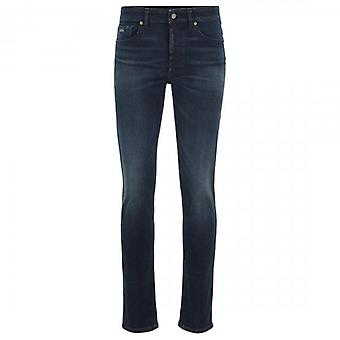 Boss Orange Hugo Boss Delaware BC-L-P Drop Dark Blue Distressed Slim Fit Jeans 403 50414974