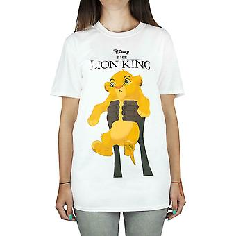 Disney Lion King Simba Cub Circle Of Life Women's Boyfriend Fit White T-Shirt