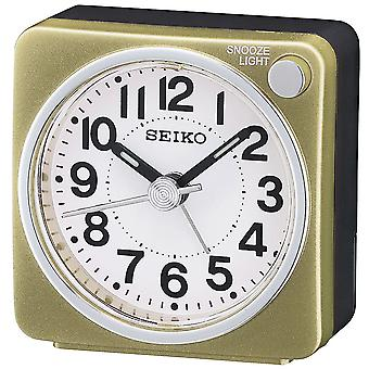 Seiko Bedside Alarm Clock Analogue - Gold (QHE118G)