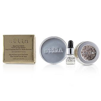 Magnificent Metals Foil Finish Eye Shadow With Mini Stay All Day Liquid Eye Primer - Metallic Dusty Rose 2pcs