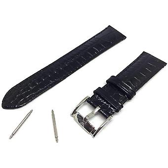 Authentic emporio armani leather watch strap ar2447 with stainless steel buckle