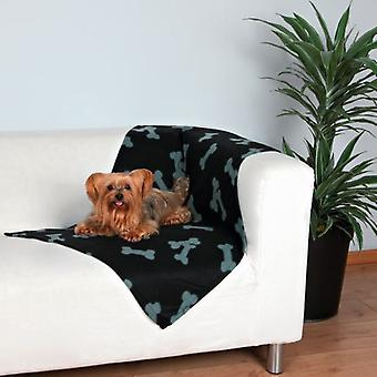 Trixie Manta afelpada Beany, 100x70 cm, Negro (Dogs , Bedding , Blankets and Mats)