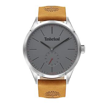Timberland Watches Tbl.16012jys/13 Lamprey Grey & Tan Leather Men's Watch