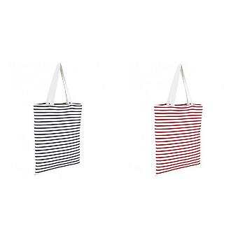 SOLS Luna Striped Shopper Bag