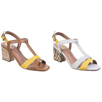 Riva Womens/Ladies Palmira T-Bar Block Heeled Leather Sandals