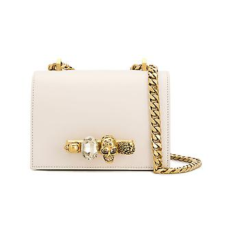 Alexander Mcqueen 558541cmo0t9004 Women's White Leather Shoulder Bag