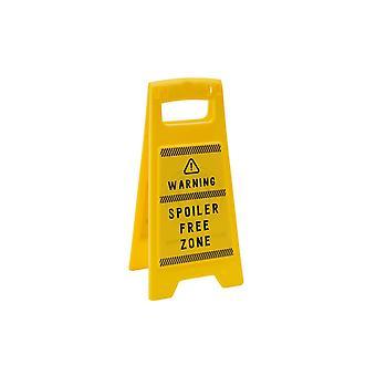 Eureka Spoiler Free Zone Desk Sign